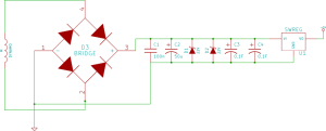 Schematic of the power part of the circuit
